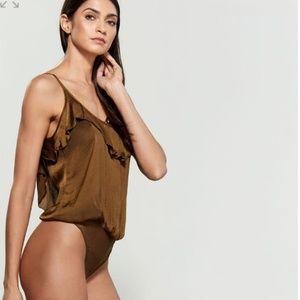 NWT FREE PEOPLE Sleeveless Bronze Bodysuit